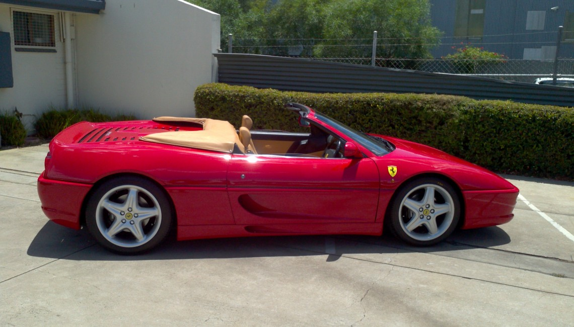 1996 ferrari f355 spider manual richmonds classic and. Black Bedroom Furniture Sets. Home Design Ideas