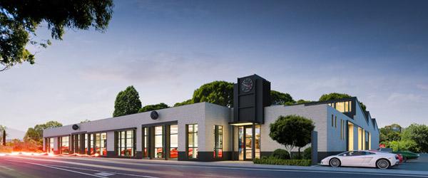 Richmonds showroom and vehicle storage
