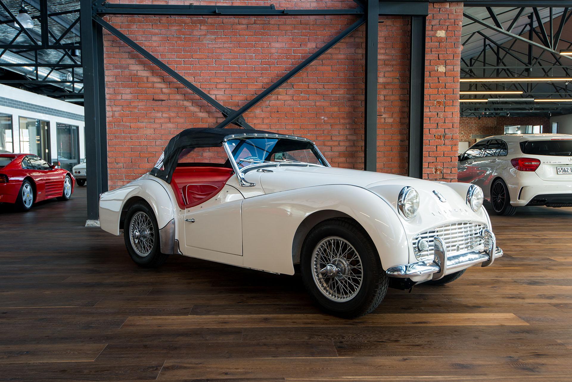 1960 triumph tr3a richmonds classic and prestige cars storage and sales adelaide australia. Black Bedroom Furniture Sets. Home Design Ideas