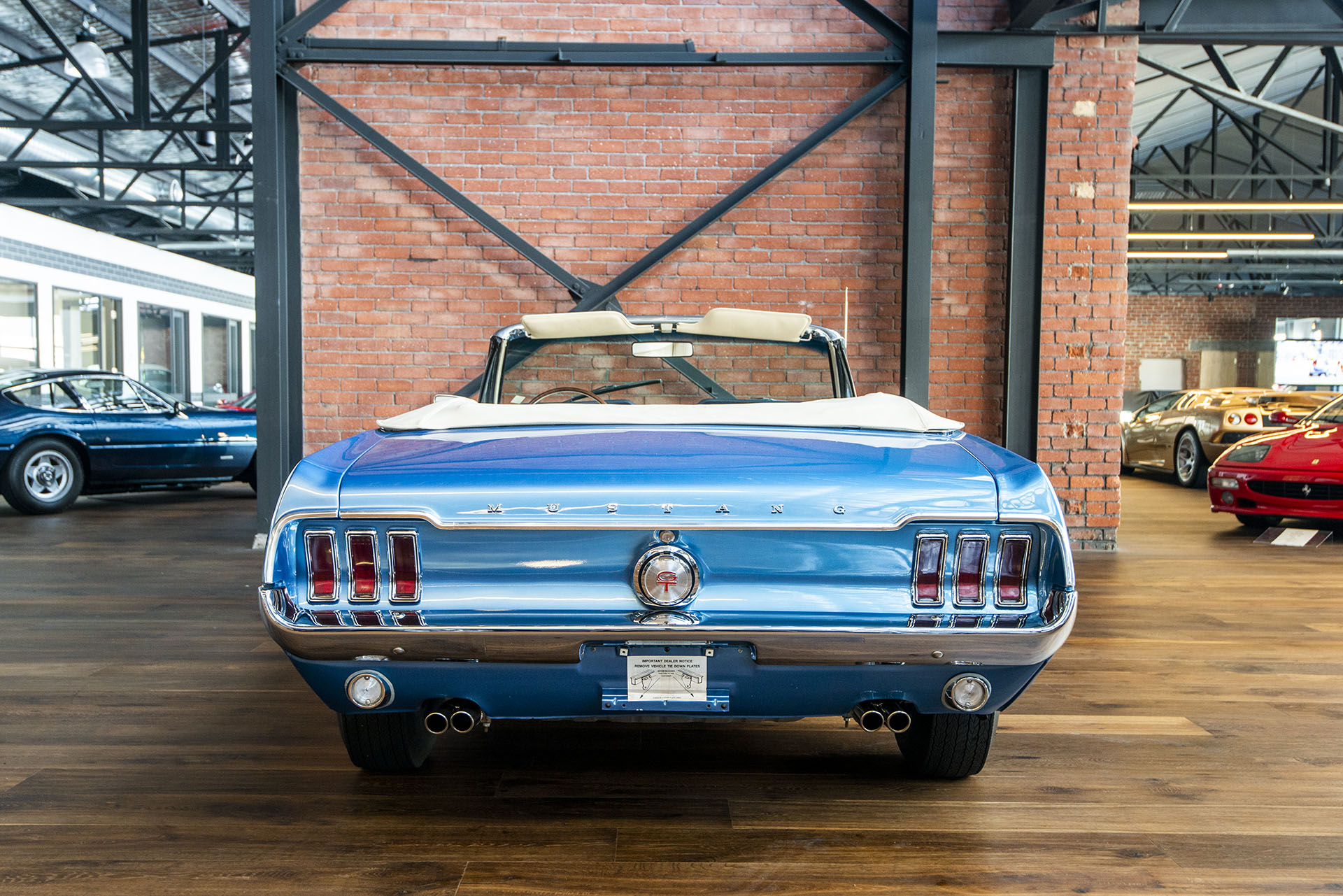 Ford Mustang Convertible Blue 18 Richmonds Classic And Prestige Cars Storage And Sales Adelaide Australia