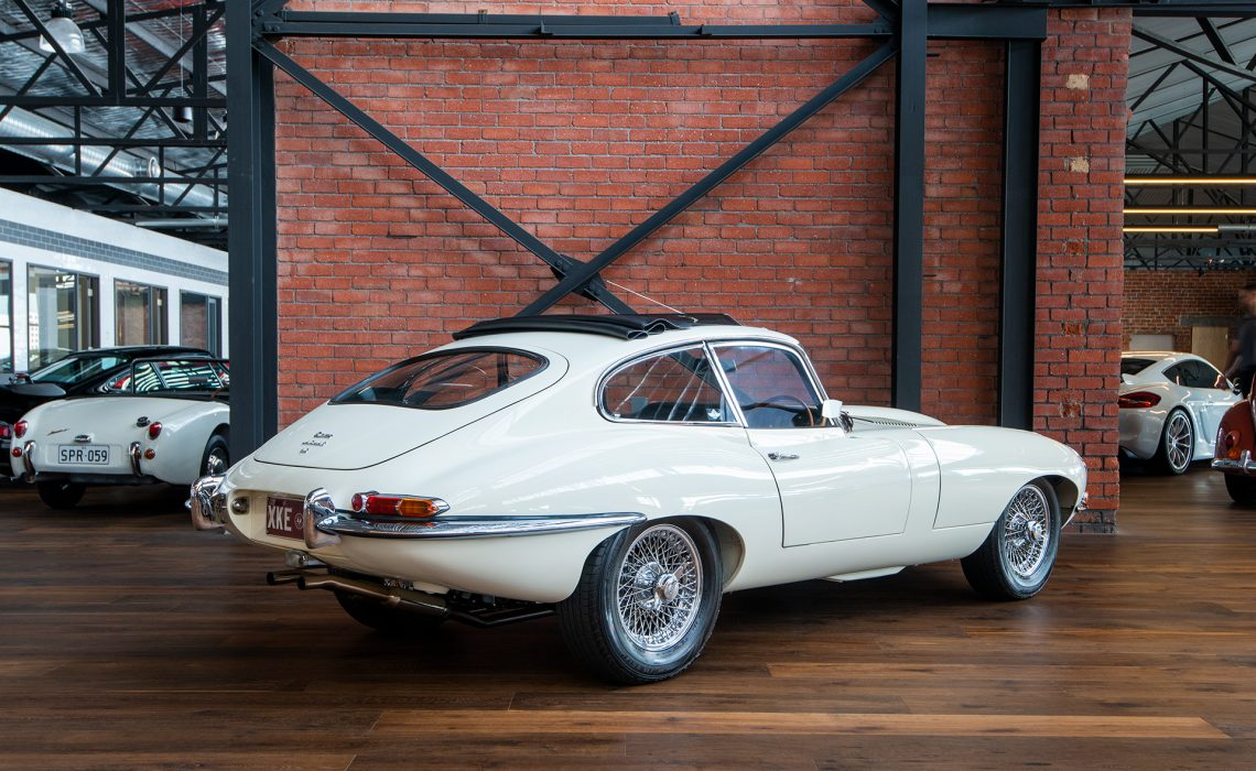 1967 Jaguar e type coupe white