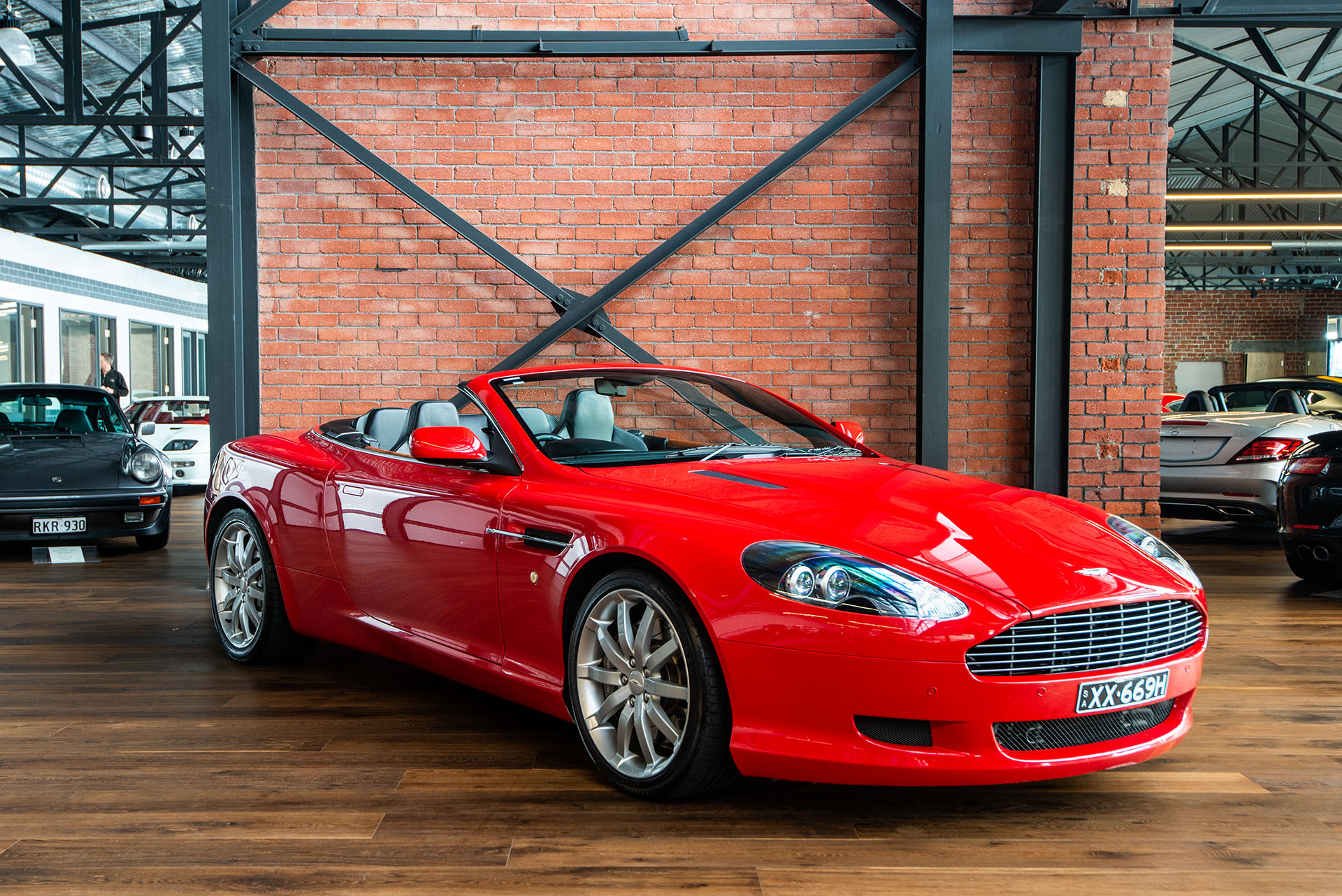 Aston Martin Db9 Volante Red 22 Richmonds Classic And Prestige Cars Storage And Sales Adelaide Australia