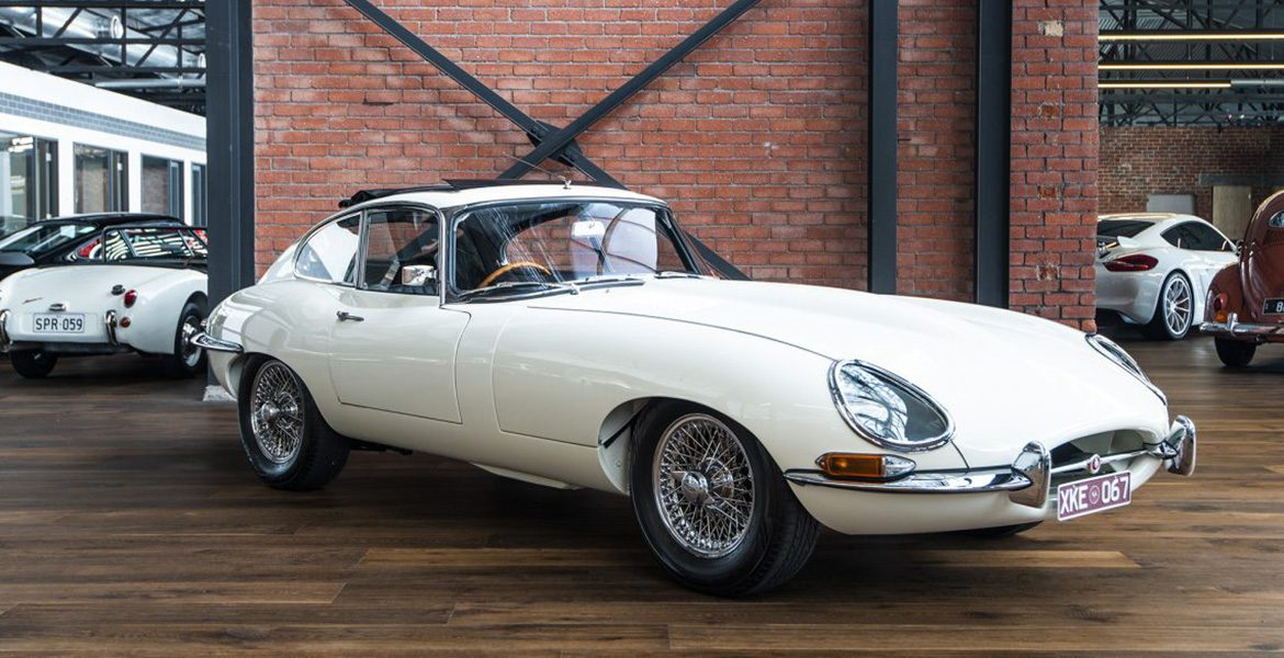 Jaguar E Type White Sunroof
