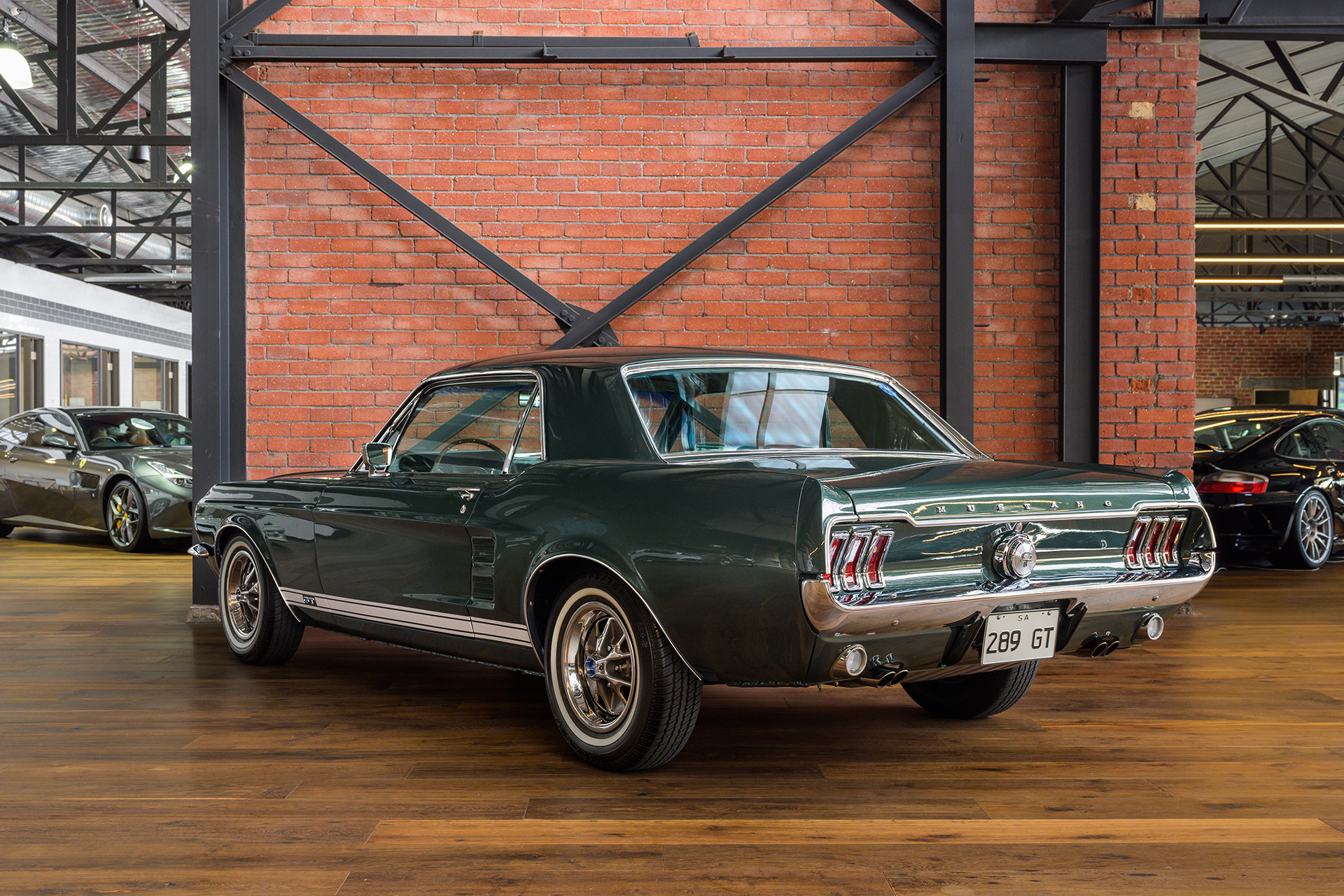 mustang 289 ford gt hardtop 1967 richmonds green australia classic adelaide
