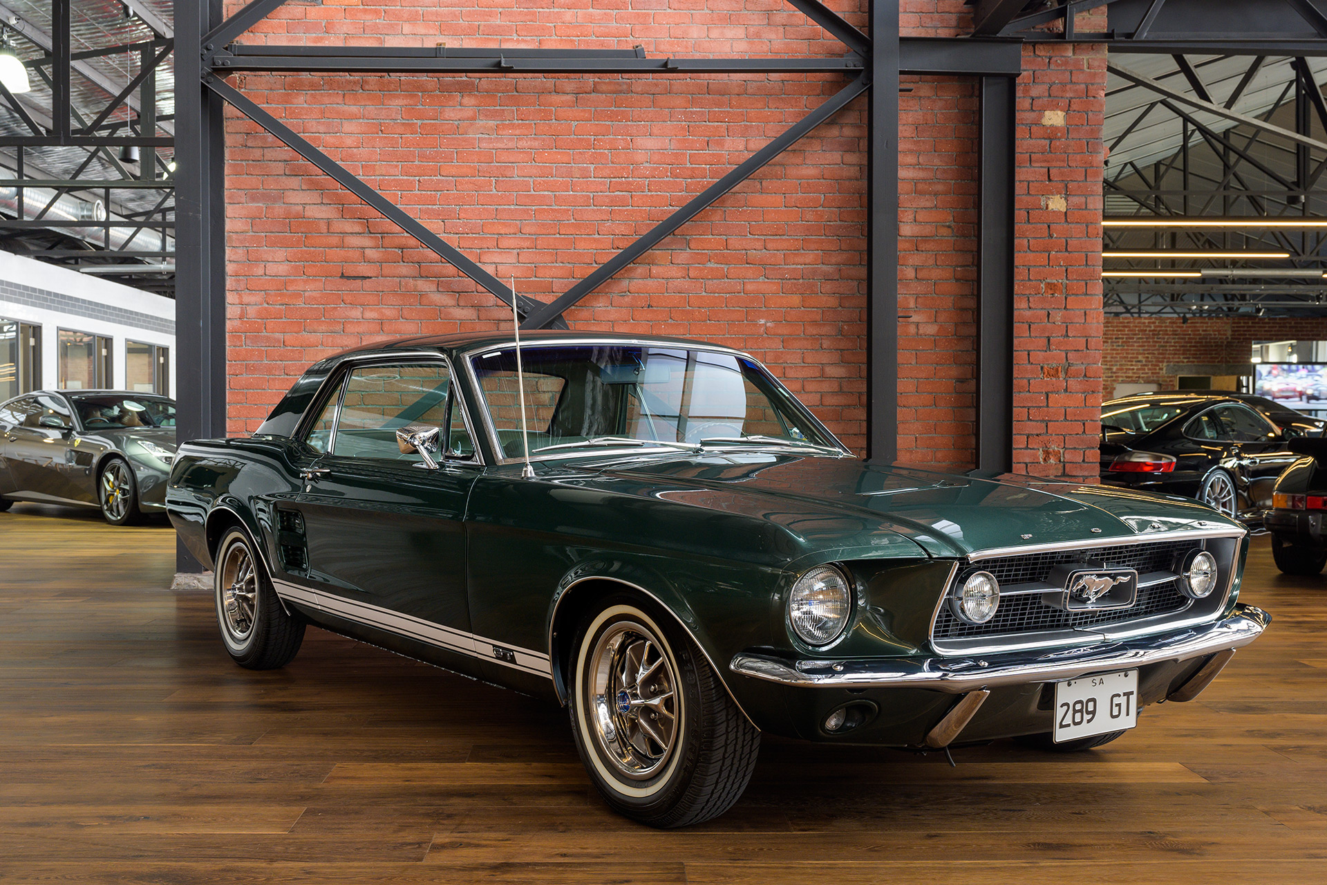 mustang ford 1967 289 gt hardtop green richmonds classic cars