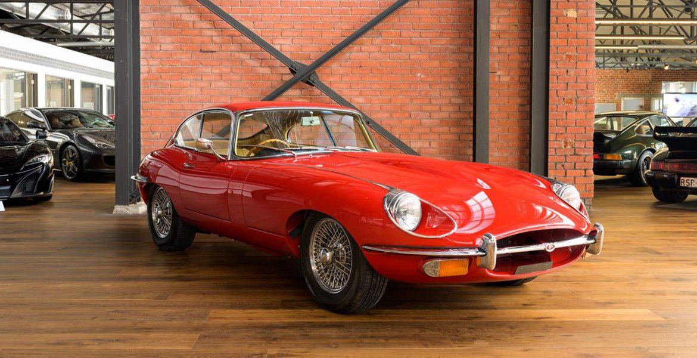 Jaguar Etype Coupe Red
